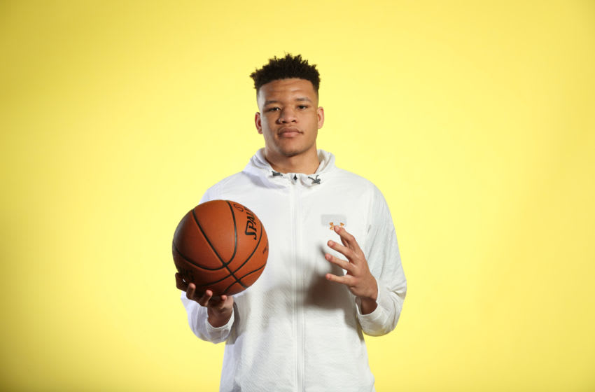 CHICAGO, IL - MAY 15: NBA Draft Prospect, Kevin Knox poses for a portrait during the 2018 NBA Combine circuit on May 15, 2018 at the Intercontinental Hotel Magnificent Mile in Chicago, Illinois. NOTE TO USER: User expressly acknowledges and agrees that, by downloading and/or using this photograph, user is consenting to the terms and conditions of the Getty Images License Agreement. Mandatory Copyright Notice: Copyright 2018 NBAE (Photo by Joe Murphy/NBAE via Getty Images)