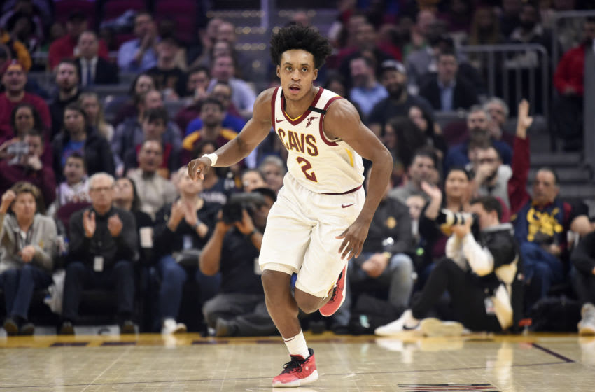 CLEVELAND, OHIO - FEBRUARY 03: Collin Sexton #2 of the Cleveland Cavaliers runs down court during the first half against the New York Knicks at Rocket Mortgage Fieldhouse on February 03, 2020 in Cleveland, Ohio. NOTE TO USER: User expressly acknowledges and agrees that, by downloading and/or using this photograph, user is consenting to the terms and conditions of the Getty Images License Agreement. (Photo by Jason Miller/Getty Images)
