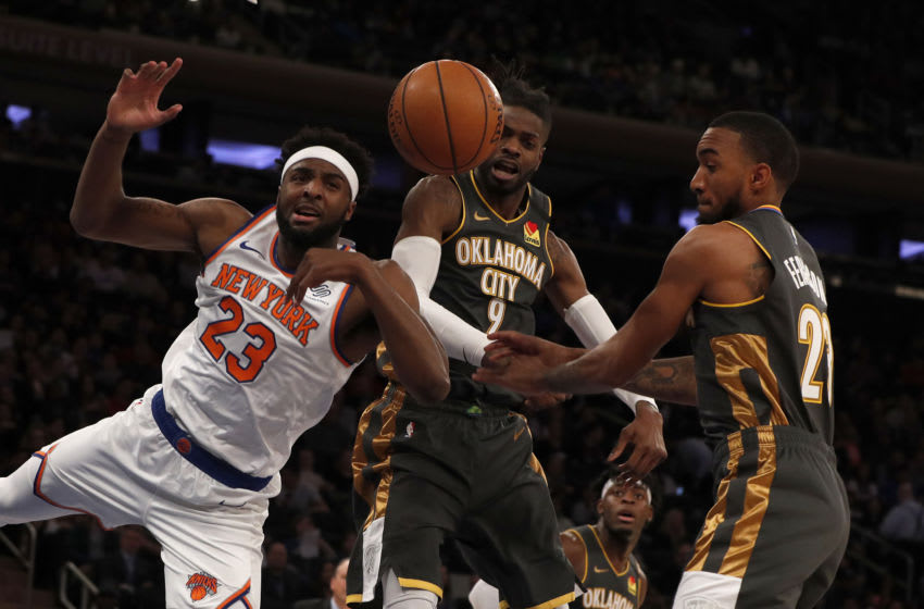 NY Knicks, Mitchell Robinson, Nerlens Noel (Photo by Jim McIsaac/Getty Images)