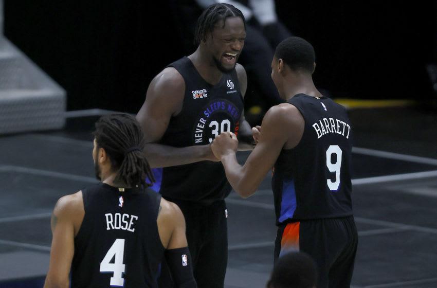 Julius Randle, RJ Barrett, NY Knicks. (Photo by Tom Pennington/Getty Images)