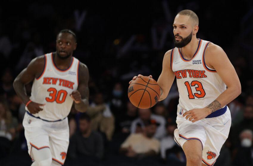 Evan Fournier, Julius Randle, New York Knicks. (Photo by Sarah Stier/Getty Images)