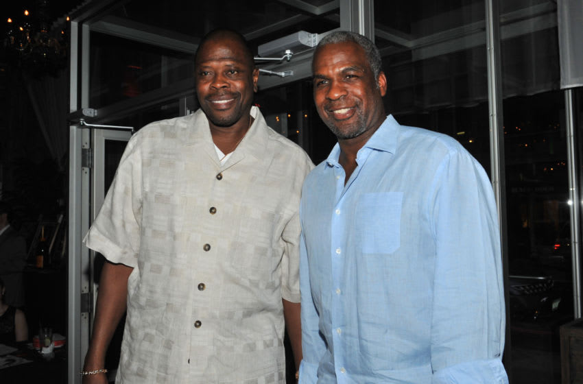 Patrick Ewing and Charles Oakley (Photo by Henry S. Dziekan III/Getty Images)