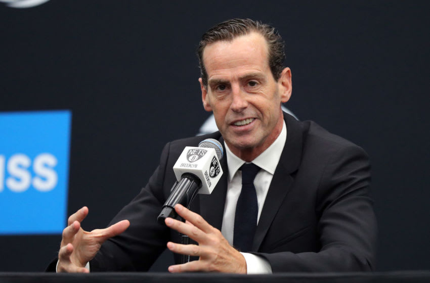 NEW YORK, NEW YORK - SEPTEMBER 27: Head coach Kenny Atkinson speaks to media during Brooklyn Nets Media Day at HSS Training Center on September 27, 2019 in the Brooklyn Borough of New York City. NOTE TO USER: User expressly acknowledges and agrees that, by downloading and or using this photograph, User is consenting to the terms and conditions of the Getty Images License Agreement. (Photo by Mike Lawrie/Getty Images)