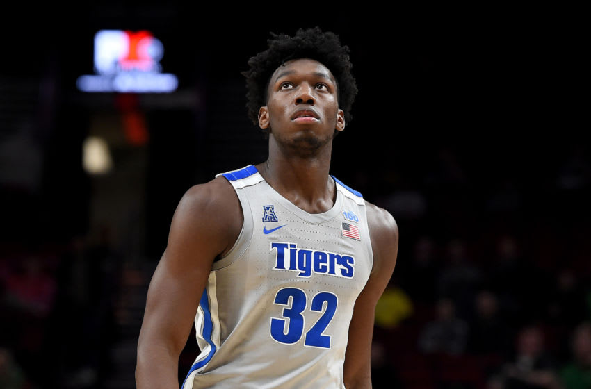 Potential New York Knicks target James Wiseman #32 of the Memphis Tigers walks up court during the first half of the game against the Oregon Ducks between the Oregon Ducks and Memphis Grizzlies at Moda Center on November 12, 2019 in Portland, Oregon. (Photo by Steve Dykes/Getty Images)