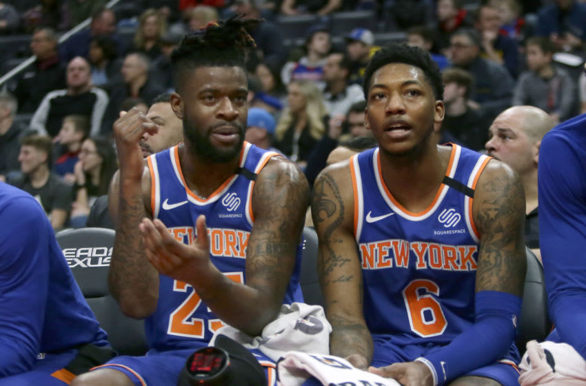 Reggie Bullock and Elfrid Payton, New York Knicks (Photo by Duane Burleson/Getty Images)