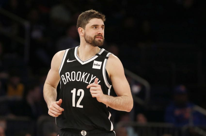 NEW YORK, NEW YORK - JANUARY 26: (NEW YORK DAILIES OUT) Joe Harris #12 of the Brooklyn Nets in action against the New York Knicks at Madison Square Garden on January 26, 2020 in New York City. The Knicks defeated the Nets 110-97. (Photo by Jim McIsaac/Getty Images)