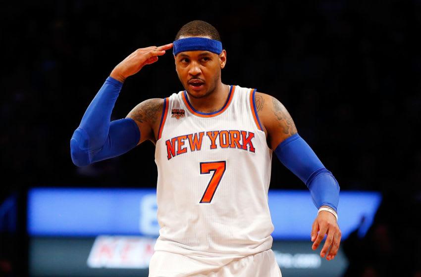 NY Knicks, Carmelo Anthony, Bobby Portis, Doug Mcdermott, Robin Lopez (Photo by Jim McIsaac/Getty Images)