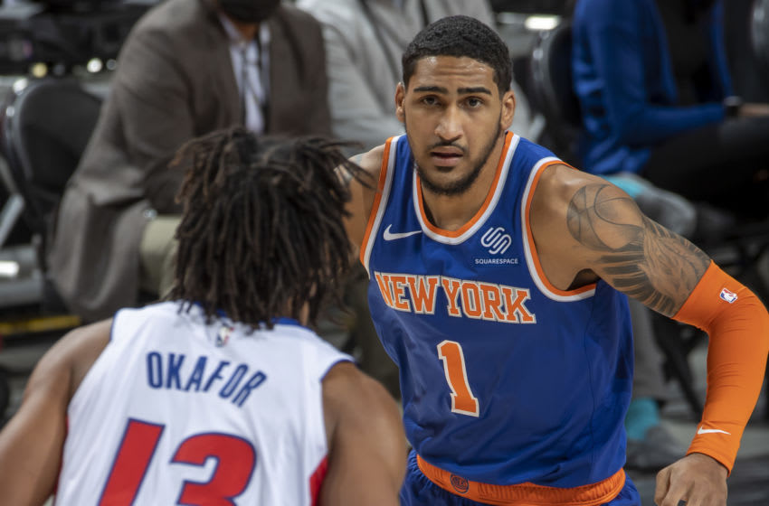 NY Knicks, Obi Toppin, Mitchell Robinson (Photo by Dave Reginek/Getty Images)