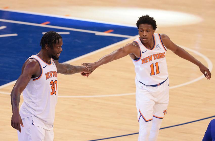 Frank Ntilikina, Knicks. Mandatory Credit: Vincent Carchietta-USA TODAY Sports