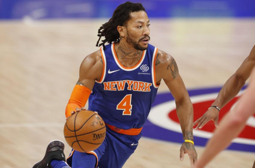 Derrick Rose, Knicks. Mandatory Credit: Raj Mehta-USA TODAY Sports