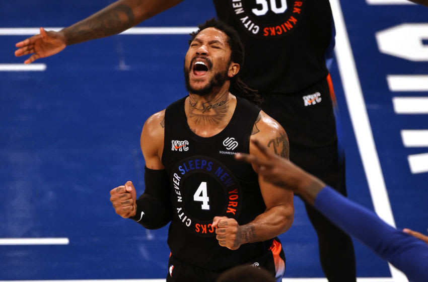 NY Knicks, Derrick Rose Elsa/POOL PHOTOS-USA TODAY Sports
