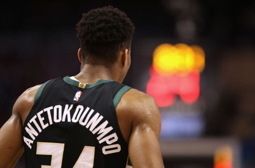 PHOENIX, ARIZONA - MARCH 04: Giannis Antetokounmpo #34 of the Milwaukee Bucks during the first half of the NBA game against the Phoenix Suns at Talking Stick Resort Arena on March 04, 2019 in Phoenix, Arizona. (Photo by Christian Petersen/Getty Images)