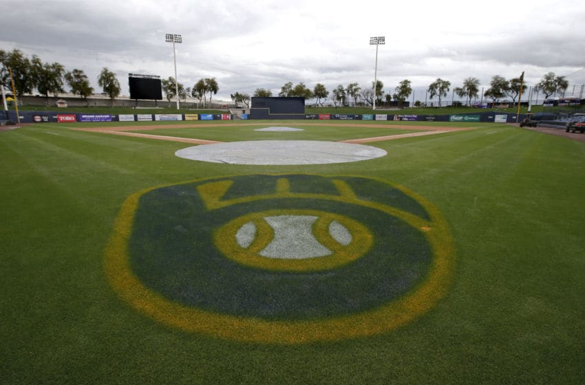 MARYVALE, - MARCH 12: Field view of American Family Fields stadium, spring training home of the Milwaukee Brewers, following Major League Baseball's decision to suspend all spring training games on March 12, 2020 in Phoenix, Arizona. The decision was made due to concerns of the ongoing Coronavirus (COVID-19) outbreak. (Photo by Ralph Freso/Getty Images)