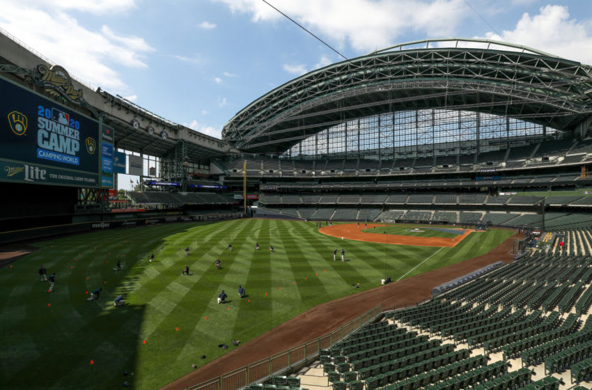 MILWAUKEE, WISCONSIN - JULY 05: A general view of Miller Park during Milwaukee Brewers Summer Workouts at Miller Park on July 05, 2020 in Milwaukee, Wisconsin. (Photo by Dylan Buell/Getty Images)
