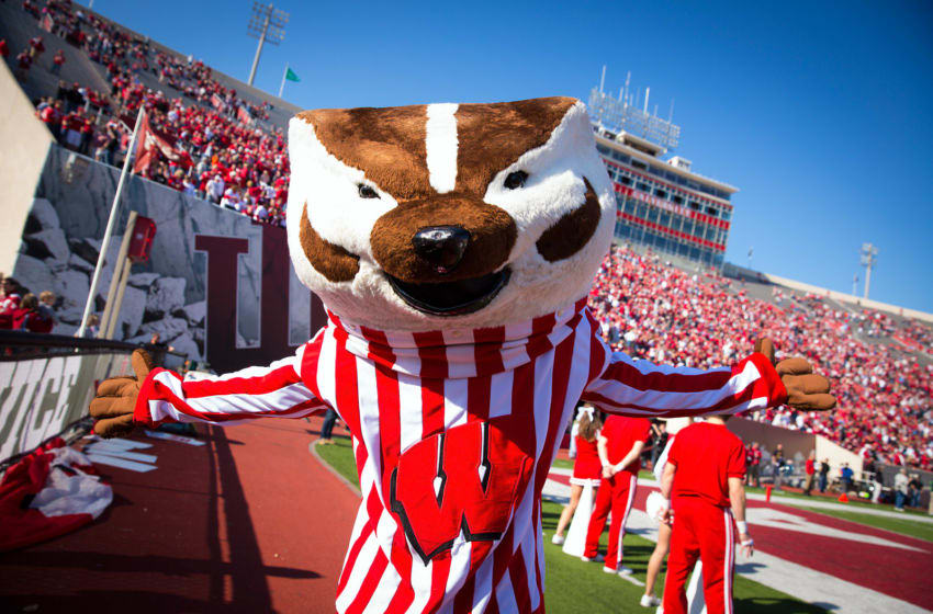 BLOOMINGTON, IN - NOVEMBER 10: Bucky Badger of the Wisconsin Badgers is seen on the field during the game against the Indiana Hoosiers at Memorial Stadium on November 10, 2012 in Bloomington, Indiana. (Photo by Michael Hickey/Getty Images)