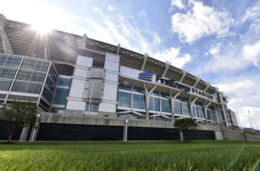 CLEVELAND, OHIO - SEPTEMBER 08: An exterior view of FirstEnergy Stadium is seen before the start of the game between the Tennessee Titans and the Cleveland Browns on September 08, 2019 in Cleveland, Ohio. (Photo by Jason Miller/Getty Images)