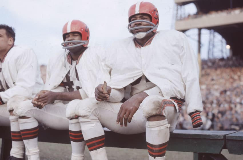 Jim Brown, Cleveland Browns. (Photo by Hulton Archive/Getty Images)