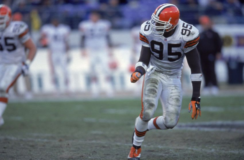 Jamir Miller, Cleveland Browns. Mandatory Credit: Doug Pensinger /Allsport