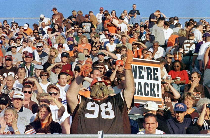 Cleveland Brown fans, led by John