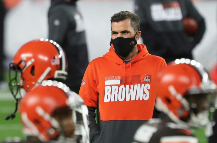 Cleveland Browns head coach Kevin Stefanski before an NFL football game at FirstEnergy Stadium, Thursday, Sept. 17, 2020, in Cleveland, Ohio. [Jeff Lange/Beacon Journal] Browns 31