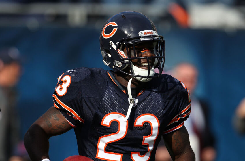 CHICAGO - OCTOBER 17: Devin Hester #23 of the Chicago Bears smiles after returning a punt 89 years for a touchdown in the 4th quarter against the Seattle Seahawks at Soldier Field on October 17, 2010 in Chicago, Illinois. The Seahawks defeated the Bears 23-20. (Photo by Jonathan Daniel/Getty Images)