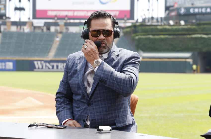 CHICAGO, ILLINOIS - JULY 07: Former Chicago White Sox manager Ozzie Guillen prior to the start of the game between t he Chicago White Sox and the Chicago Cubs at Guaranteed Rate Field on July 07, 2019 in Chicago, Illinois. (Photo by Nuccio DiNuzzo/Getty Images)