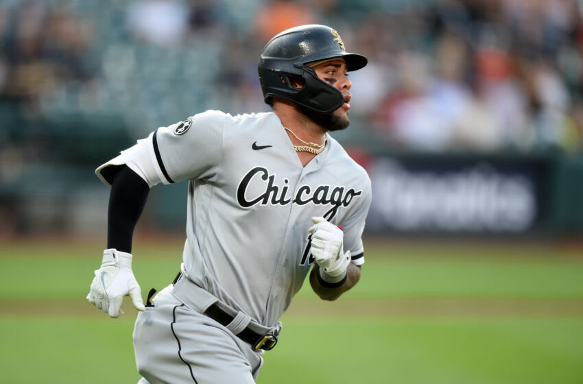 BALTIMORE, MARYLAND - JULY 09: Yoan Moncada #10 of the Chicago White Sox runs the bases against the Baltimore Orioles at Oriole Park at Camden Yards on July 09, 2021 in Baltimore, Maryland. (Photo by G Fiume/Getty Images)
