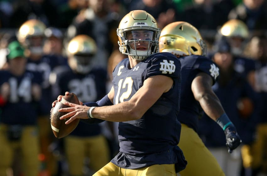 Ian Book, Notre Dame Fighting Irish (Photo by Dylan Buell/Getty Images)