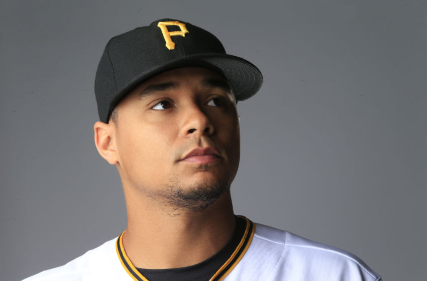 BRADENTON, FL - FEBRUARY 19: Chris Archer #24 of the Pittsburgh Pirates poses for a photo during the Pirates' photo day on February 19, 2020 at Pirate City in Bradenton, Florida. (Photo by Brian Blanco/Getty Images)