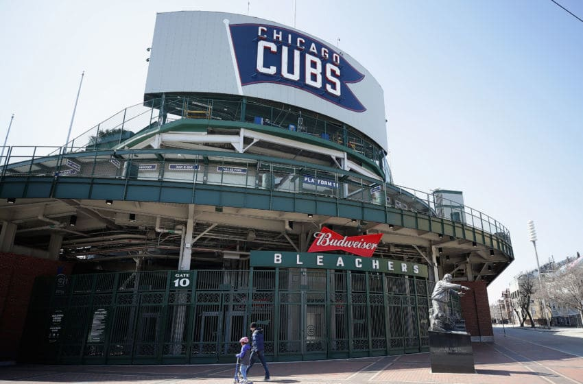 CHICAGO, ILLINOIS - MARCH 25: A general view of the bleacher entrance to Wrigley Field where the Chicago Cubs were scheduled to open the season Monday March 30 against the Pittsburgh Pirates on March 25, 2020 in Chicago, Illinois. The Major League baseball season has been delayed by the COVID-19 crisis. (Photo by Jonathan Daniel/Getty Images)