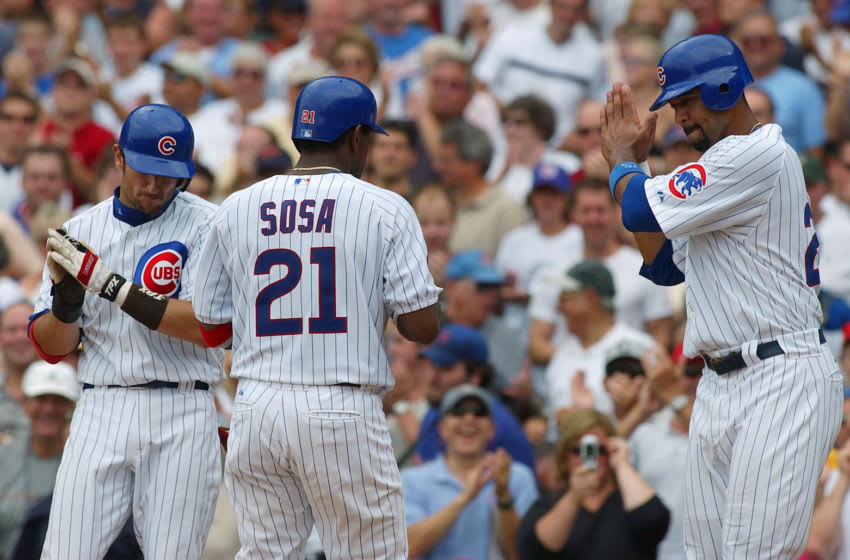 Sammy Sosa of the Cubs celebrates after hitting a home run. (Photo by Jonathan Daniel/Getty Images)