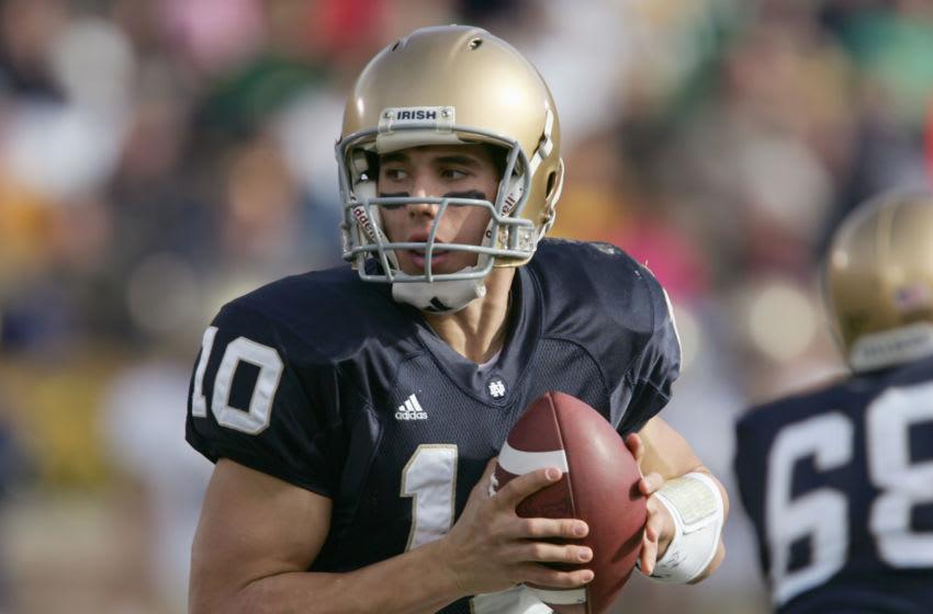 Brady Quinn, Notre Dame Fighting Irish. (Photo by Jonathan Daniel/Getty Images)
