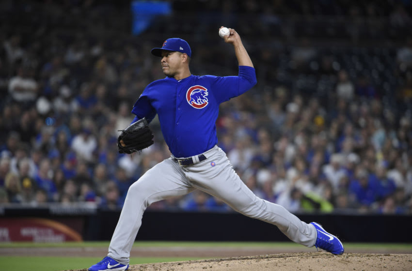 SAN DIEGO, CA - SEPTEMBER 10: Jose Quintana #62 of the Chicago Cubs pitches during the second inning of a baseball game against the San Diego Padres at Petco Park September 10, 2019 in San Diego, California. (Photo by Denis Poroy/Getty Images)