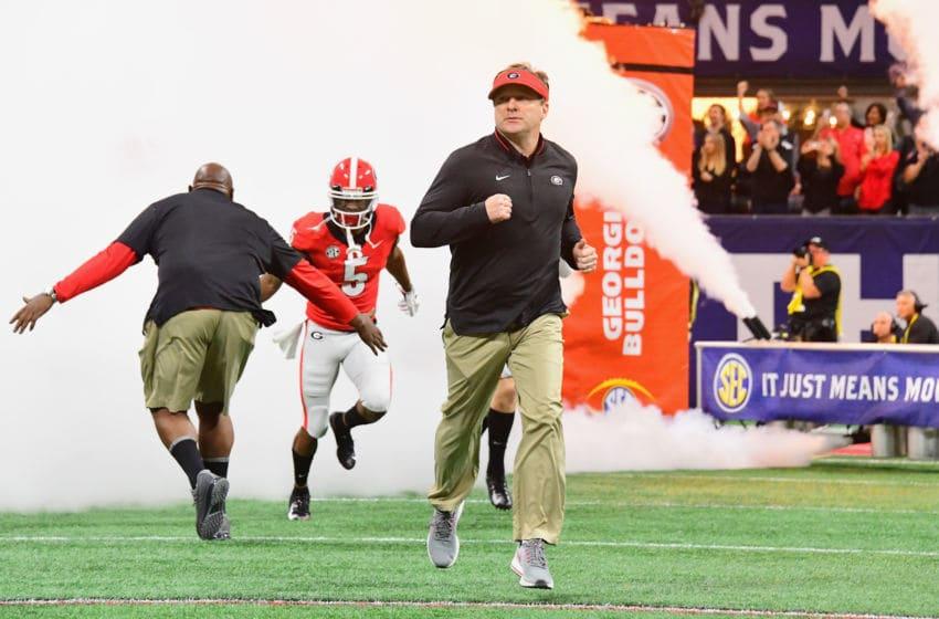 ATLANTA, GA - DECEMBER 01: Head coach Kirby Smart (Photo by Scott Cunningham/Getty Images)