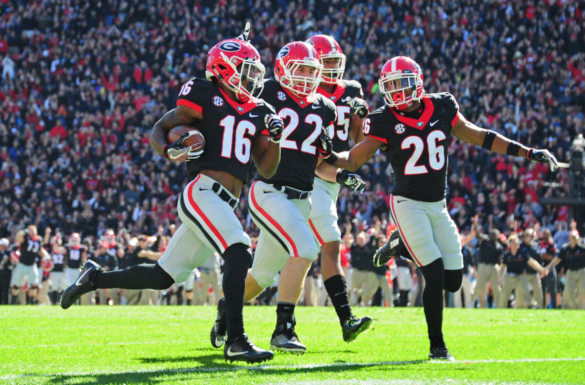 ATHENS, GA - NOVEMBER 19: Georgia football receiver Isaiah McKenzie (Photo by Scott Cunningham/Getty Images)