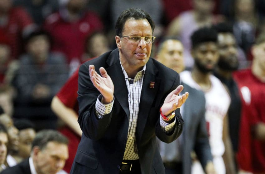 BLOOMINGTON, IN - DECEMBER 28: Head coach Tom Crean of the Indiana Hoosiers reacts in the second half against the Nebraska Cornhuskers at Assembly Hall on December 28, 2016 in Bloomington, Indiana. (Photo by Dylan Buell/Getty Images)