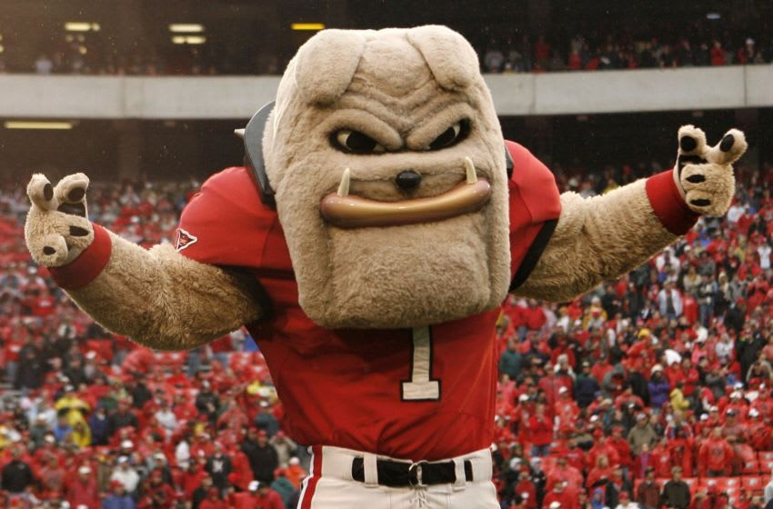 ATHENS, GA - NOVEMBER 29: Georgia Bulldogs mascot Hairy Dawg poses before the game against the Georgia Tech Yellow Jackets at Sanford Stadium on November 29, 2008 in Athens, Georgia. The Yellow Jackets defeated the Bulldogs 45-42. (Photo by Mike Zarrilli/Getty Images)