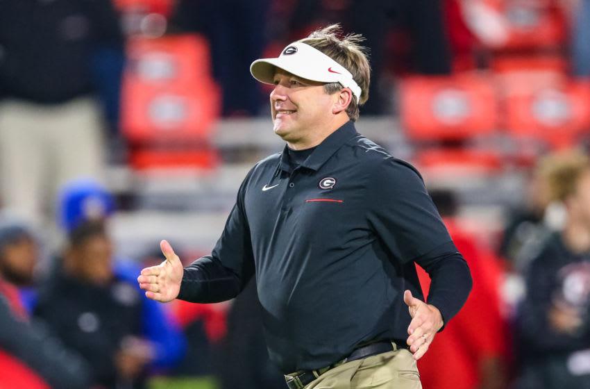 Head coach Kirby Smart of the Georgia Bulldogs (Photo by Carmen Mandato/Getty Images)