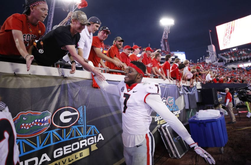 Lorenzo Carter #7 of the Georgia Bulldogs Photo by Joe Robbins/Getty Images)