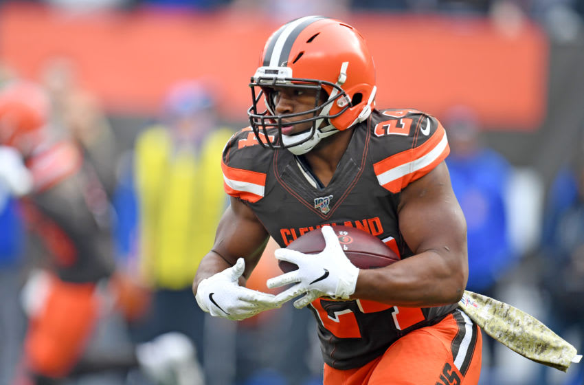 Running back Nick Chubb of the Cleveland Browns (Photo by Jason Miller/Getty Images)