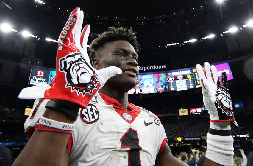 George Pickens #1 of the Georgia Bulldogs (Photo by Chris Graythen/Getty Images)