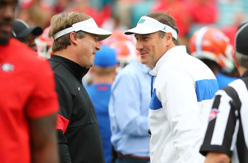 Kirby Smart and Dan Mullen Kim Klement-USA TODAY Sports
