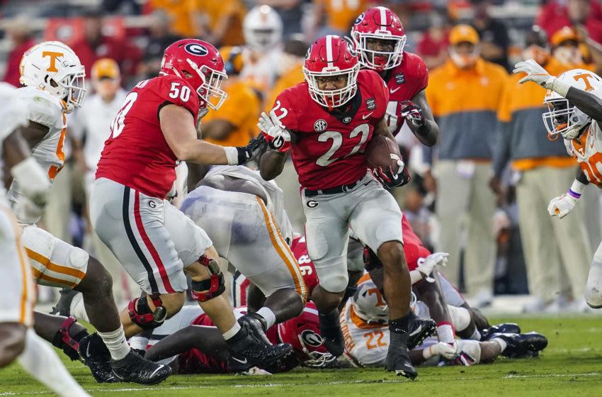 Georgia Bulldogs running back Kendall Milton Mandatory Credit: Dale Zanine-USA TODAY Sports