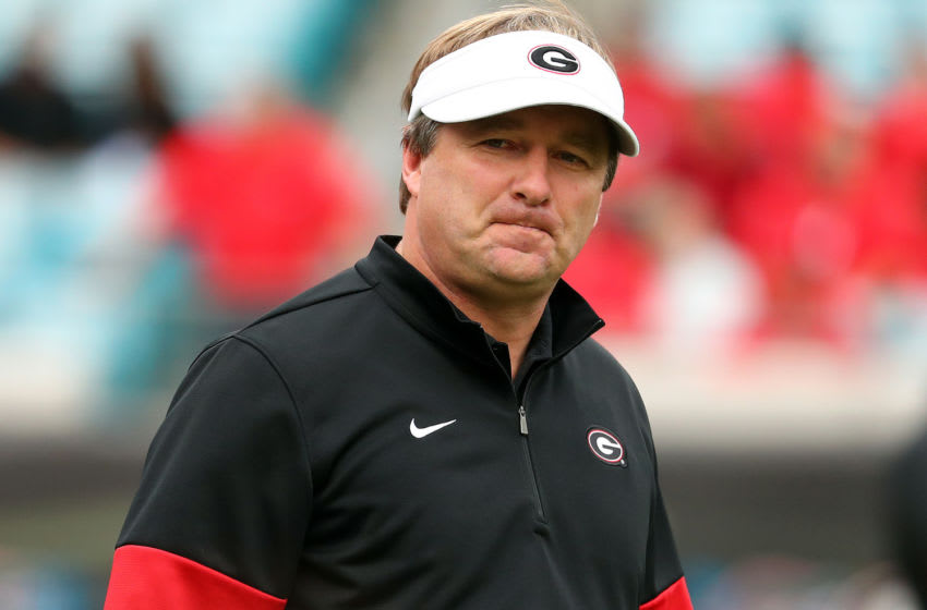 Georgia Bulldogs head coach Kirby Smart, Mandatory Credit: Kim Klement-USA TODAY Sports