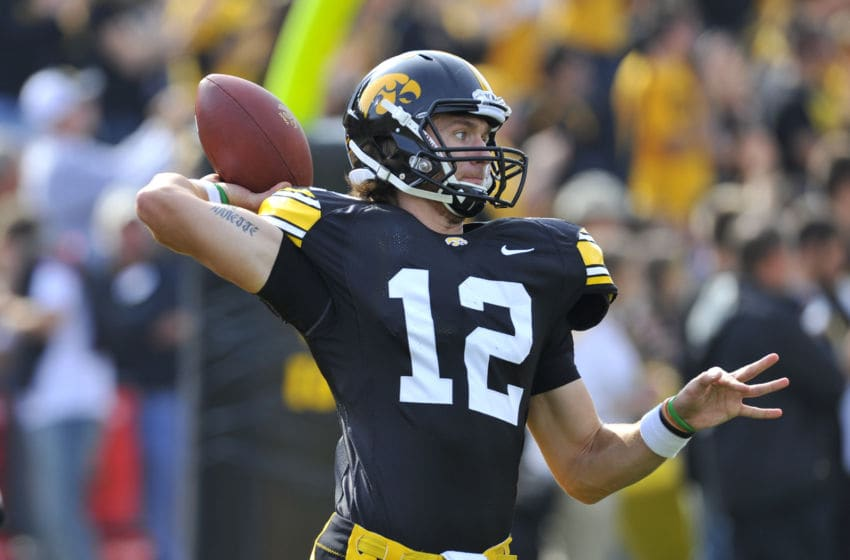 Ricky Stanzi, Iowa Hawkeyes. (Photo by David Purdy/Getty Images)