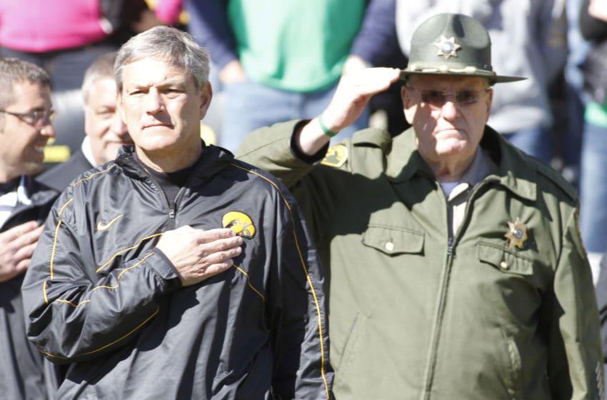 Head coach Kirk Ferentz of the Iowa Hawkeyes (Photo by Matthew Holst/Getty Images)