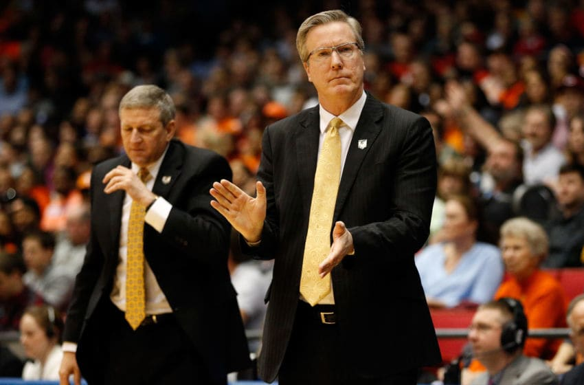 DAYTON, OH - MARCH 19: Head coach Fran McCaffery of the Iowa Hawkeyes looks on during the first round of the 2014 NCAA Men's Basketball Tournament against the Tennessee Volunteers at UD Arena on March 19, 2014 in Dayton, Ohio. (Photo by Gregory Shamus/Getty Images)