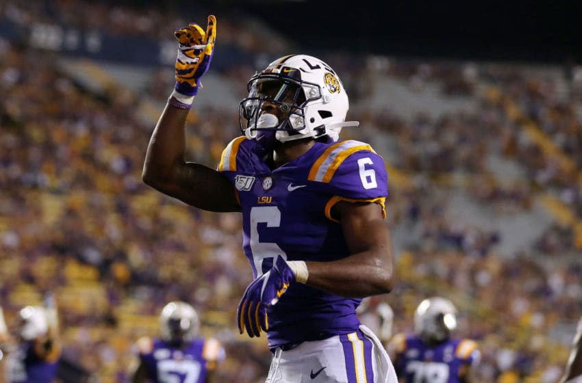 LSU football WR Terrace Marshall Jr (Photo by Jonathan Bachman/Getty Images)