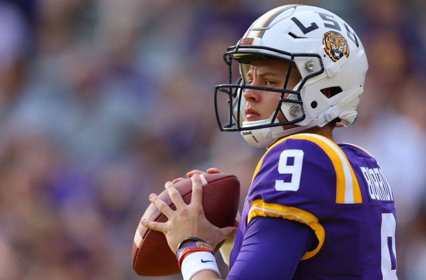 LSU football QB Joe Burrow (Photo by Jonathan Bachman/Getty Images)
