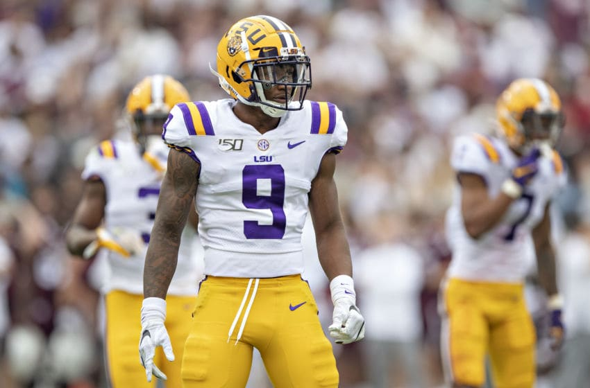 LSU football's Marcel Brooks. (Photo by Wesley Hitt/Getty Images)
